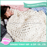 Soft Hand Knitting Wool Crochet Acrylic China Blanket