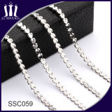 Fashion Stainless Steel Link Chain Heart Shape for Necklace