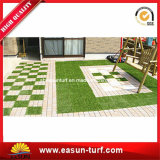 Interlocking Artificial Grass Tile for Decorative Garden