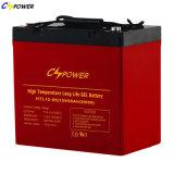 Manufacturer Deep Cycle Gel Battery 12V 55ah for Inverter