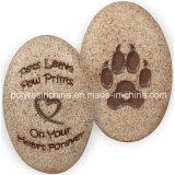 Polyresin Angelstar Dog Paw Print of Decorative Stone
