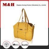 PU Women Shoulder Bag Brown Bag with Metals Decoration