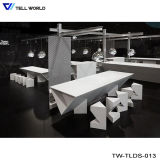 Artificial Marble Stone Kfc Restaurant Long Dining Table