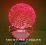 New Golden Coloured Sides Colorful 3D Mini Night Lamp