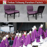 Factory Direct Sale High Quality Colourful Metal Used Steel Church Chair (YC-G73)