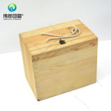 Wooden Case with Metal Lock Printing Packaging Box