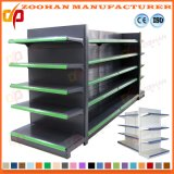 Double Sided Gondola Steel Shelf Display for Supermarket Store (Zhs35)