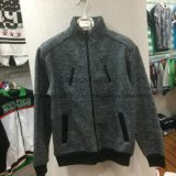 Men′s Wear Loop Gagt Knit Chevron Fleece Stand Collar Coat in Sport Clothes Fw-8759