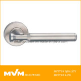 Stainless Steel Door Handle on Rose (S1048)