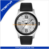 Waterproof Customized Leather Band Swiss Promotion Watch for Men
