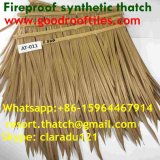 Artificial Thatch Synthetic Thatch Plastic Palm Tree Leave Thatch Roofing Tiles 2