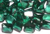 Jewelry Parts-Syntehtic Green Quartz Gemstones