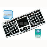 Rii Mechanical Wireless Keyboard with Dpi Adjustable Touchpad