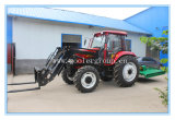 Dq904 Farm Tractor Fit with 4in1 Front End Loader, Slasher Mower, Towable Backhoe, Cabin with A/C