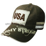 Washed Distressed Printing Embroidery Sport Golf Baseball Cap (TRB004)