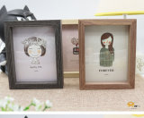 "4*6"" Double-Sided Wooden Photo Frame (4*6′′)"