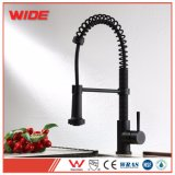 Low Lead Black Kitchen Sink Mixer Tap Faucet with Pull out Handspray