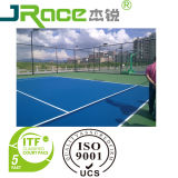 Shock-Absorption Rubber Tennis Court with Spu Coating Sport Surface
