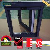 UPVC Window Double Glazed, PVC Black Casement Window Design