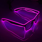 Fluorescent LED EL Wire Sunglasses