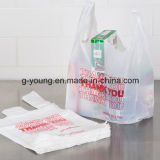 HDPE 100% Virgin Material Transparent T-Shirt Bags