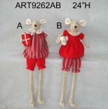 Christmas Mouse Decoration Gift Carrying with Baby-2asst-