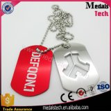 Free Design Wholesale Custom Metal Dog Tags with Ball Necklace