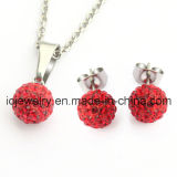 Stainless Steel Fashion Shamballa Crystal Jewelry Set