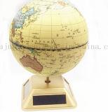 OEM Desk Plastic Solar Auto Rotate World Globe