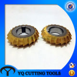 HSS M2/M35 50 Degree Double Angle Milling Cutter with Tin Coating