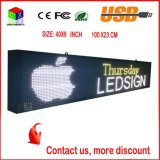 P6 Indoor Full-Color RGB LED Sign Wireless and USB Programmable Rolling Information 40X9 Inch LED Display