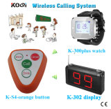 Ce Passed Wireless Restaurant Waiter Calling System Sound and Vibrating Waiter Pager System