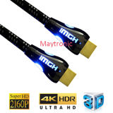 High Speed LED Nylon with Metal Shell 2.0 HDMI Cable