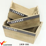 Vintage Wooden Wholesale Planter Boxes with Handles