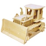 Boutique Colourless Wood Toy Vehicles-Bulldozer