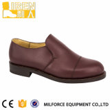 Red Brown Genuine Leather Mens Military Police Office Shoes