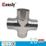High Quality 4 Way Railing Pipe Connector/ Flush Angle