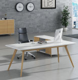 White Color Solid Wooden Table Leg MDF Office Furniture (HX-AD810)