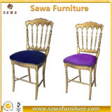 Aluminum Gold Banquet Wedding Napoleon Chair for Event