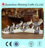 European Style Small Resin Elephant Figurines for Home Decoration
