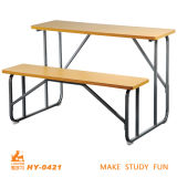 Cheap School Desk with Bench Simple Design Students Desk