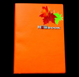 Maple Printing Leather Notebooks with Metal Logo (WH-006)