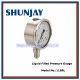 Hydraulic Liquid Filled Pressure Gauge (All Stainless Steel)