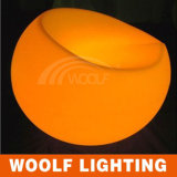 LED Lighted Modern Plastic Big Round Lounge Chair