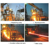 Small R3m CCM Continuous Casting Machine for 60X60~90X90mm Steel Billet