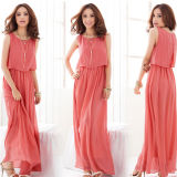 2015 Summer Hot Sale Women′s Sexy Stylish Chiffon Long Dress