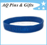 Glittery Silicone Bracelet with Debossed Logo