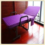 Folding Metal Bed with Purple Color Mattress 190*90cm