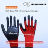 K-101 13 Gauges Polyester Nylon Cotton Nitrile Coated Safety Working Gloves