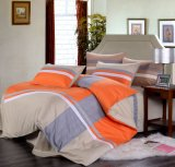 100cotton Reactive Print Orange Patchwork Bedding Set